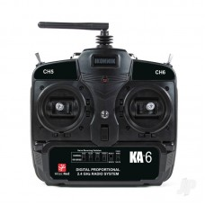 Ikonnik KA-6 6-Channel 2.4GHz Transmitter and Receiver (Hitec Red) (Mode 2)