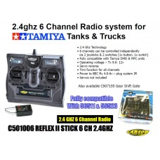 2.4ghz 6 Channel Radio System for  TAMIYA Tanks & Trucks